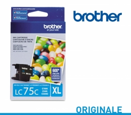 Cartouche Jet d'encre Originale Brother LC75C CYAN-1